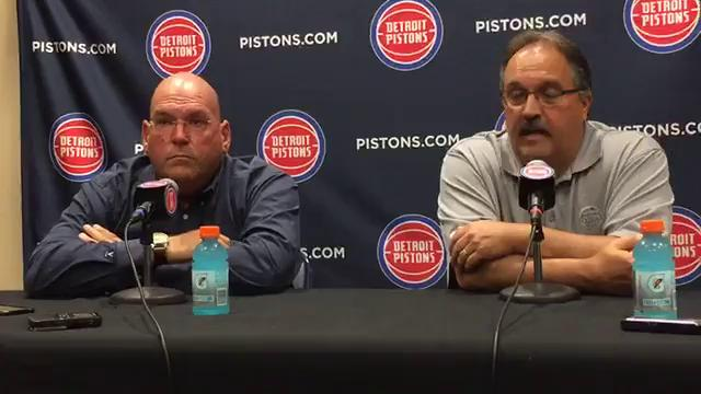 Pistons president/head coach Stan Van Gundy talks about how team approached the summer and how much better he thinks the team is now. Video by Carlos Monarrez/DFP