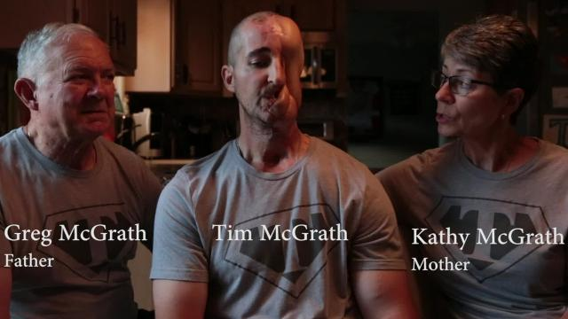 Tim McGrath and his family shares stories of Dr. Kongkrit Chaiyasate, July 12, 2017, at their home in Sterling Heights.