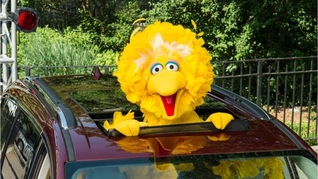 Big Bird's new ride? A Chrysler Pacifica