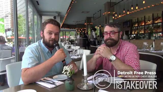 Detroit Free Press restaurant critic Mark Kurlyandchik chats with Jordan Hoffman, executive chef at Parc restaurant in Detroit.