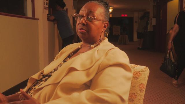 """Robin Rivers describes her experiences during the summer of 1967 after a recent screening of """"12th and Clairmount,"""" at the Senate Theater in southwest Detroit.  Video by Elbert Lilly, Center for Michigan"""