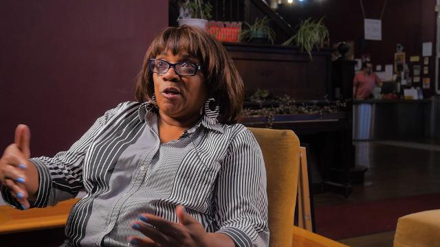 """Darlene Dickson describes her experiences during the summer of 1967 after a recent screening of """"12th and Clairmount,"""" at Cinema Detroit in Midtown."""