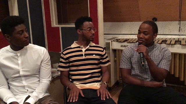 Cast members from the movie 'Detroit' Joseph David-Jones, left, Algee Smith and Leon Thomas, III, stop by the Motown Museum Studio A in Detroit for an interview with the Detroit Free Press. Video by Mandi Wright