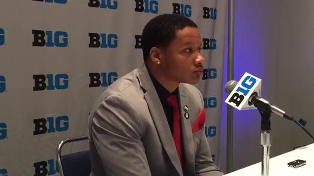 Michigan State running back Gerald Holmes fielded questions at Big Ten media days on Monday, July 24, 2017, in Chicago. Video by Chris Solari/DFP