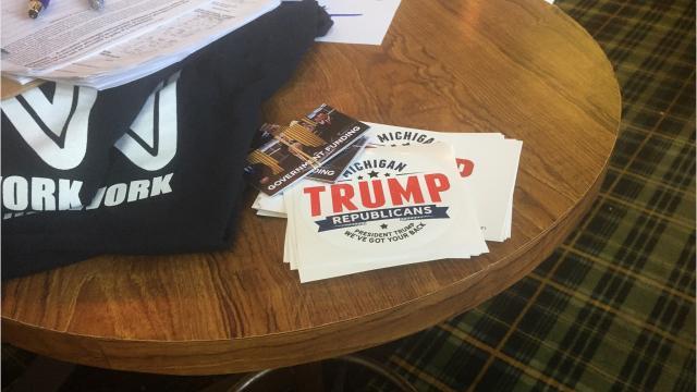 Political divide on display at rallies in Royal Oak, Lansing