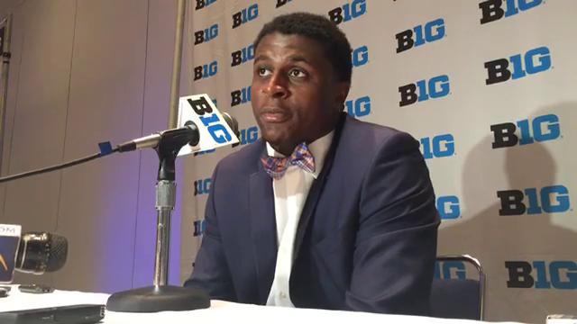 Michigan linebacker Mike McCray fielded questions during Big Ten media days in Chicago on Tuesday, July 25, 2017. Video by Chris Solari/DFP