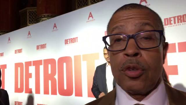 Detroit Police Chief James Craig hit the red carpet at the world premiere of the movie 'Detroit' at the Fox Theatre in Detroit.