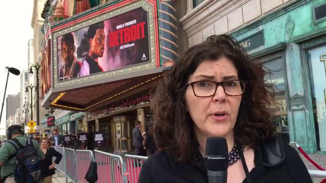 """Freep entertainment writer Julie Hinds sets up our big the premiere of """"Detroit"""" at the Fox Theatre in Detroit."""