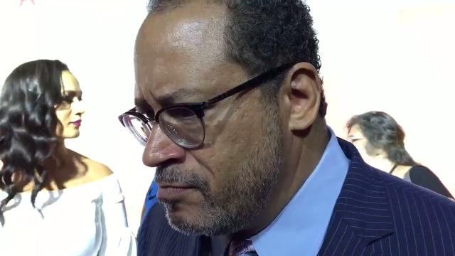 Michael Eric Dyson takes the red carpet at the Fox Theatre for the premiere of 'Detroit.' A Detroit native, Dyson is a prominent scholar who is here to introduce the movie.