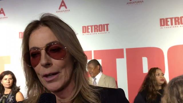 'Detroit director' Kathryn Bigelow walks the red carpet at the Fox.