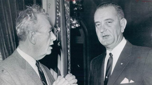 Listen to a recording of a telephone conversation between President Lyndon B. Johnson and Senator Everett McKinley Dirksen about the Detroit riot.