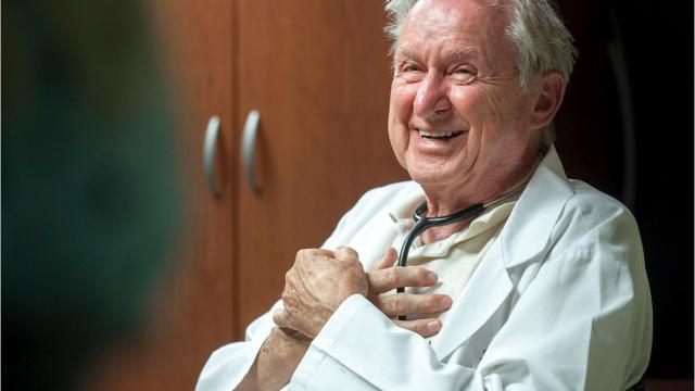 Dr. John M, Dorsey Jr. began his career when doctors still made house calls and the iron lung was being used to treat people with polio. Now, at age 90, he's still seeing patients at Beverly Hills Pediatrics.