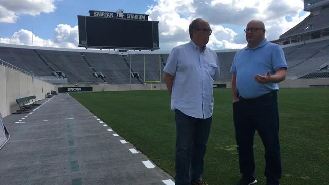 Free Press sports writers Shawn Windsor and Chris Solari discuss Michigan State football, and why coaches think this year will be different, from media day at Spartan Stadium on Aug. 7, 2017.