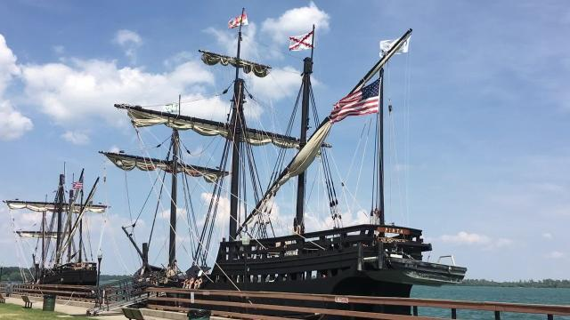 For the next few weeks, replicas of the Nina and the Pinta, two of the ships explorer Christopher Columbus sailed in 1492, are making the rounds in the Great Lakes. They're in Wyandotte this weekend, and then Traverse City, Muskegon, and South Haven.