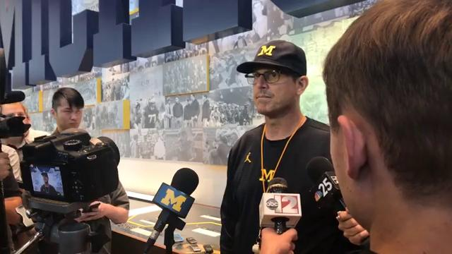 Jim Harbaugh provides update on Michigan football practices