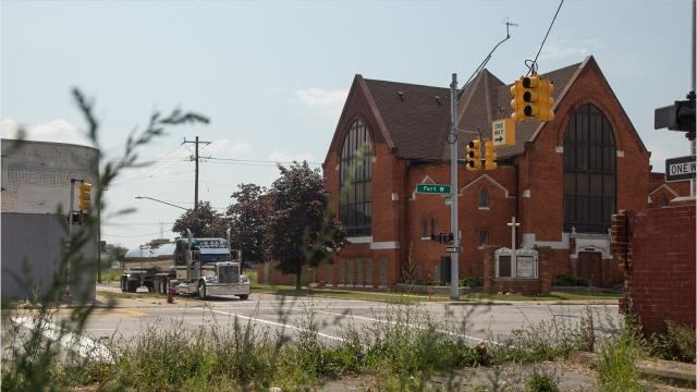 The First Latin American Baptist Church in southwest Detroit's Delray district is slated for demolition later this year. The demolition will make way for the Gordie Howe International Bridge.