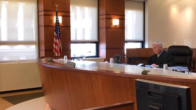 First hearings to review claims under the new Michigan Wrongful Imprisonment Compensation Act were held in Chief Judge Michael Talbot's courtroom in Cadillac Place in Detroit.