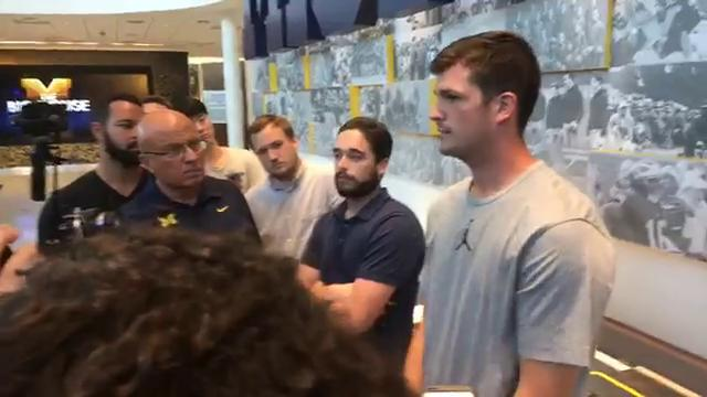 Last season's U-M starting quarterback spoke with the media on Wednesday, Aug. 16, 2017, in Ann Arbor.  Video by Jeff Seidel/DFP