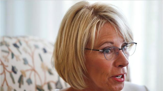 Betsy Devos Is Just Plain Wrong >> She Says Their Views Are Totally Abhorrent To The American Ideal