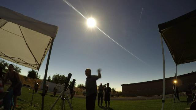 Time lapse video of total eclipse from Idaho