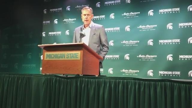 MSU coach Mark Dantonio says his Spartans are excited to finally return to the field and play a game. (Chris Solari/DFP)