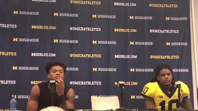 Michigan's Devin Bush and Tarik Black recap the team's win over the University of Florida.
