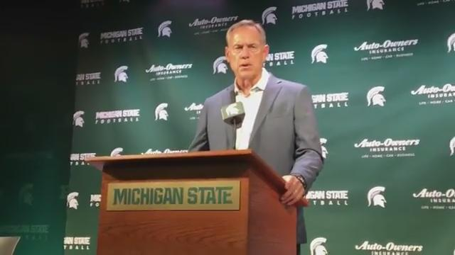MSU coach Mark Dantonio liked the effort and leadership Michigan State showed vs. Bowling Green and looks ahead to Western Michigan game. (Chris Solari/DFP)