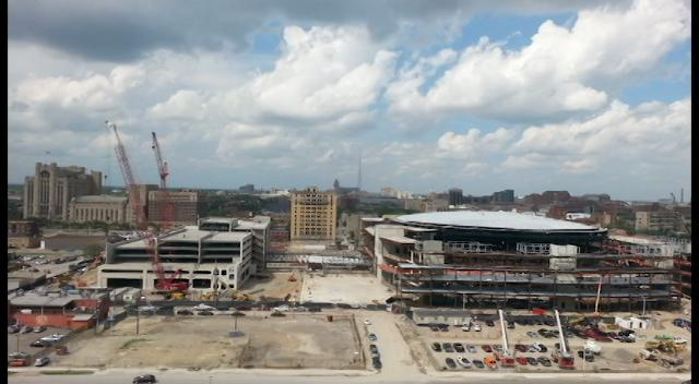 For nearly two years, a time-lapse camera on top of the Town Pump Tavern and the Park Avenue House captured the building of Little Caesars Arena.