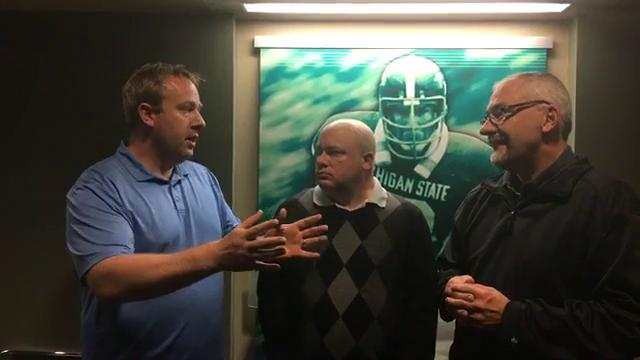 Free Press columnist Jeff Seidel, sports writer Chris Solari and Lansing State Journal columnist Graham Couch discuss the Spartans' 28-14 win over Western Michigan on Saturday, Sept. 9, 2017, in East Lansing.