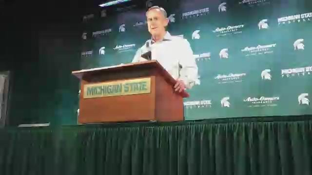 MSU coach Mark Dantonio wants the Spartans to stay focused and healthy during bye week. (Chris Solari/DFP)