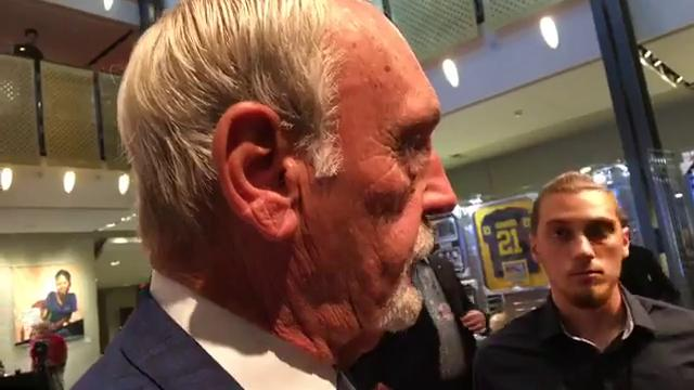 Former Tigers manager Jim Leyland fielded questions just before he was enshrined into the Michigan Sports Hall of Fame on Friday, Sept. 15, 2017, at Orchestra Hall. Video by Vince Ellis/DFP
