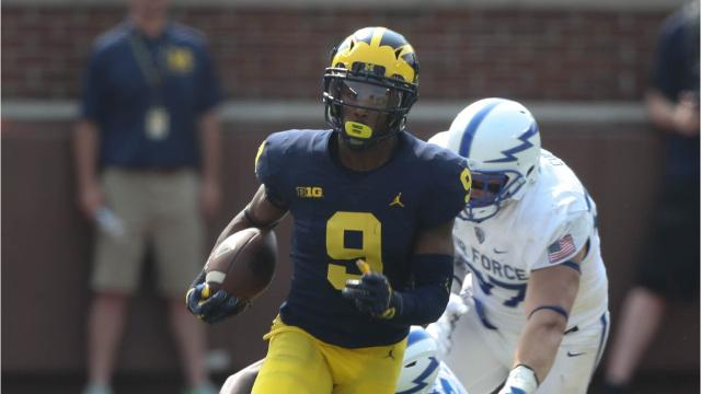 We look at five plays that turned the game in the Michigan Wolverines' 29-13 win over the Air Force Falcons at Michigan Stadium, Saturday, Sept. 16, 2017. Video by Marlowe Alter, Detroit Free Press