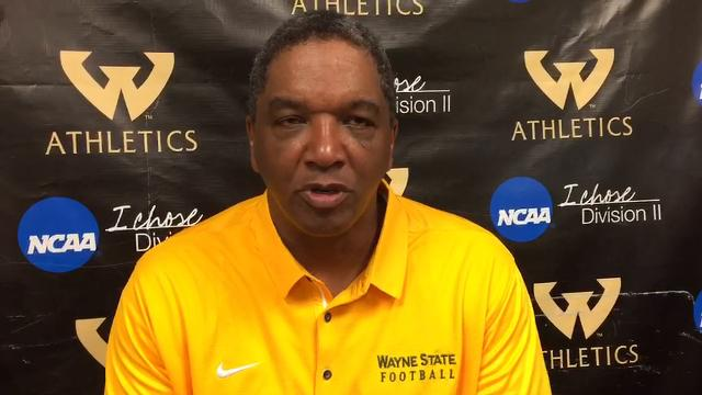 Wayne State coach Paul Winters spoke about the football team's special uniforms on Saturday, Sept. 16, 2017. Video by Chris Nelsen/Special to DFP