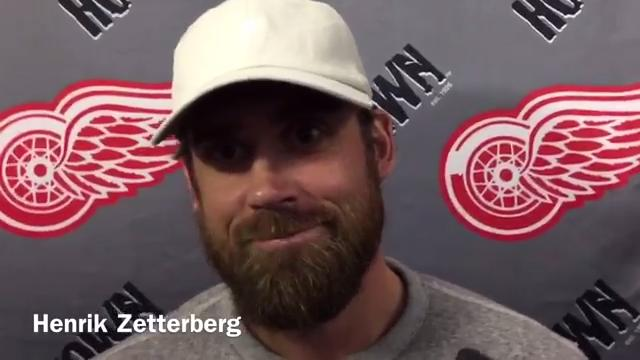 Detroit Red Wings Henrik Zetterberg and Tomas Tatar and coach Jeff Blashill talk Monday at Centre Ice Arena in Traverse City. Video by Helene St. James, DFP.