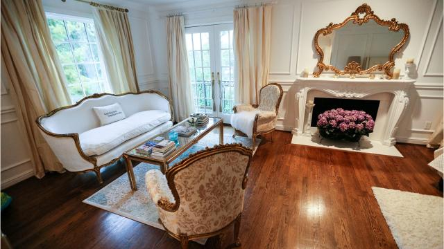 The owners say this Birmingham home is French -- drawn from France's southern Provence area -- and many of the home's details support that.
