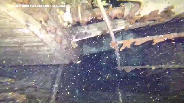 Divers explore sunken S.S. Clifton
