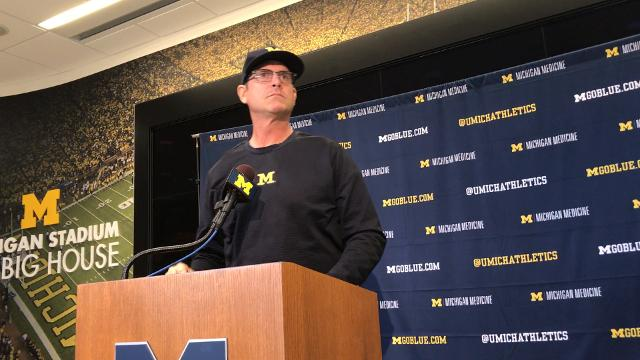 Jim Harbaugh concerned with visiting locker rooms in Big Ten