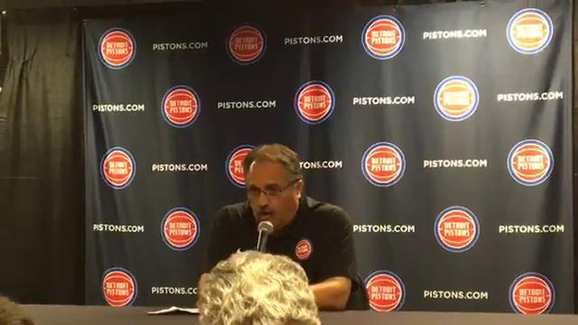 Pistons coach Stan Van Gundy at media day