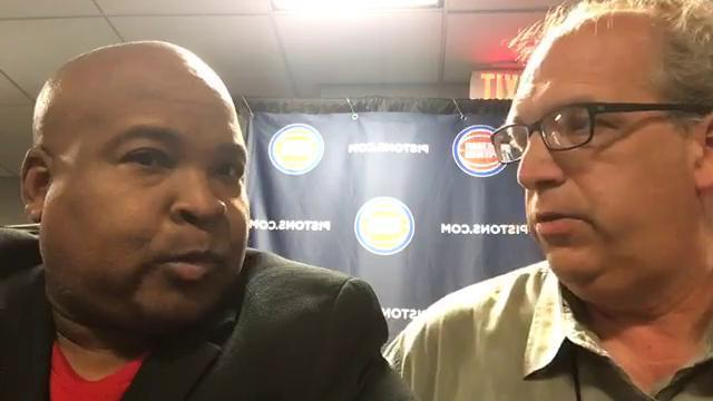 Quick reactions from Pistons media day