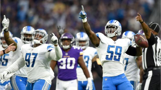 We take a look at the five biggest plays from the Lions' 14-7 win over the Vikings in Minneapolis on Sunday, Oct. 1, 2017. Video by Marlowe Alter, Detroit Free Press.