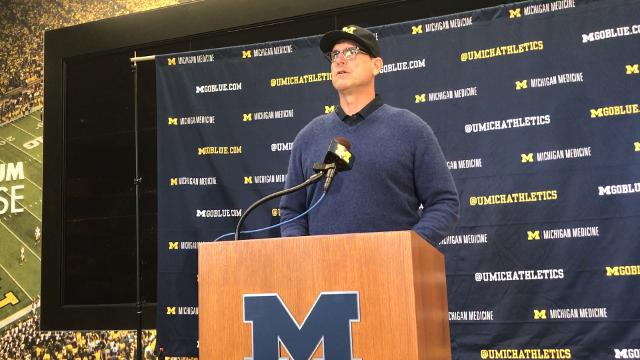 Michigan coach Jim Harbaugh says Wilton Speight is sidelined multiple weeks with an injury, names John O'Korn the starter. 'Every role, he's been in, he's acquitted himself very well.' Recorded Monday, Oct. 2, 2017.
