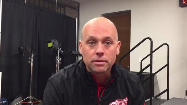 Detroit Red Wings coach Jeff Blashill talks Sept. 27, 2017 at Little Caesars Arena. Video by Helene St. James, DFP