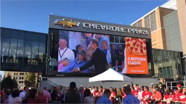 The Detroit Red Wings rolled out the red carpet for their home opener at the Little Caesars Arena in Detroit. They face the Minnesota Wild.
