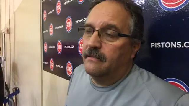 Pistons coach Stan Van Gundy looks back at the exhibition opener, including the debut of rookie Luke Kennard, Henry Ellenson's improvement and more. Recorded Thursday, Oct. 5, 2017.