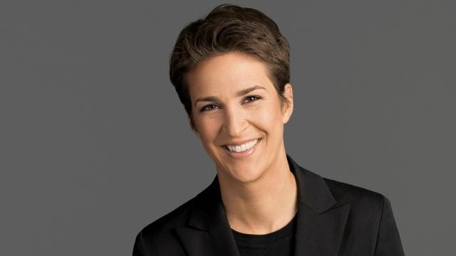 """Rachel Maddow continues her hot streak, as """"The Rachel Maddow Show"""" finished the third quarter as the highest-rated cable news show. Her show got 2.7 million total viewers, topping both Fox News and CNN in the time slot in overall viewers and adults aged 25 to 54. It marks the first quarter that an MSNBC show has ranked No. 1 for all of cable news. The numbers for """"Maddow"""" represent a 75 percent increase over the third quarter in 2016."""