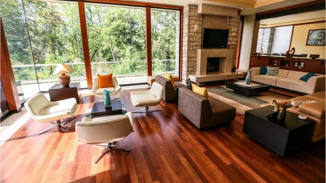 "This Bloomfield Hills home is ""a very exciting multi-level design."