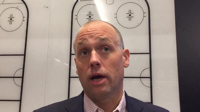Detroit Red Wings player Trevor Daley and coach Jeff Blashill talk Monday, Oct. 9, 2017 at Little Caesars Arena. Video by Helene St. James, DFP
