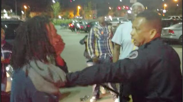 Warning: Video contains explicit language. Watch Detroit police officer arrest man, 23,  at Meijer on 8 Mile Road.