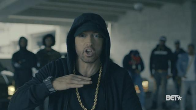 Eminem performed a freestyle rap at the BET Hip Hop Awards on Tuesday night where he tore into President Donald Trump.