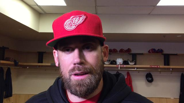 Detroit Red Wings Henrik Zetterberg and Niklas Kronwall talk about hockey in Las Vegas on Thursday, Oct. 12, 2017, at Gila River Arena.
